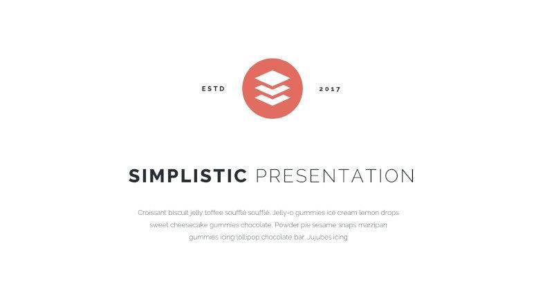 simplistic presentation template 788x443