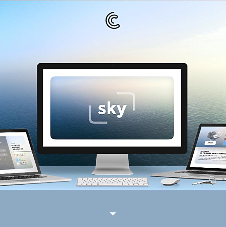 Sky Minimal Keynote Template