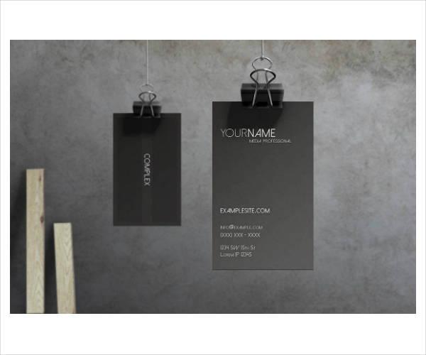 sleek modern corporate business card