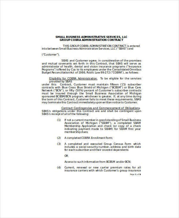 17 Small Business Contract Templates Docs Word Pages