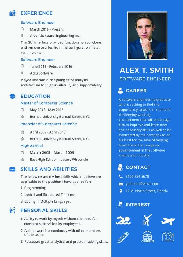 software engineer fresher resume in word