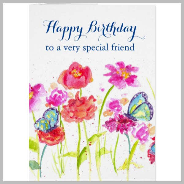 Special Happy Birthday Friend Card Template