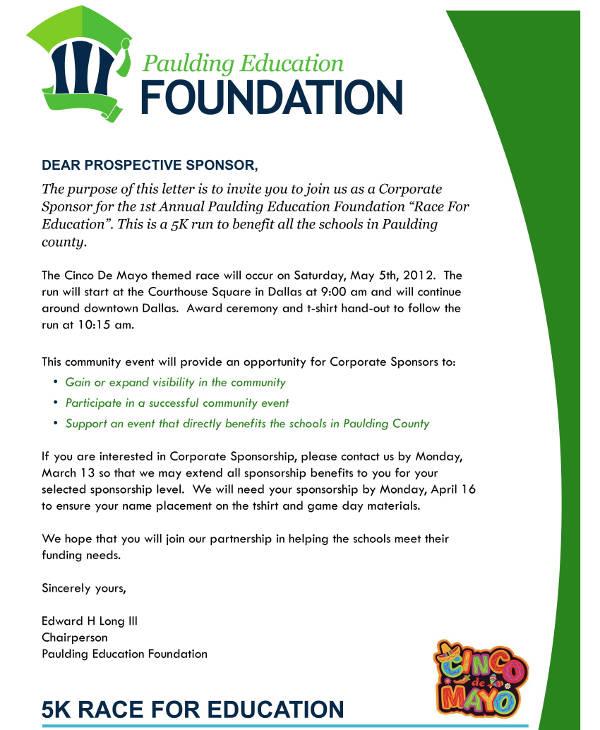 Sponsorship Invite Letter