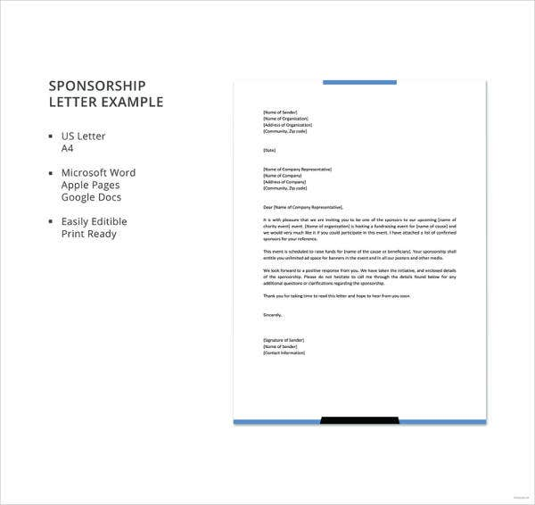 45 sponsorship letter templates pdf doc free premium templates sponsorship letter example details spiritdancerdesigns Gallery