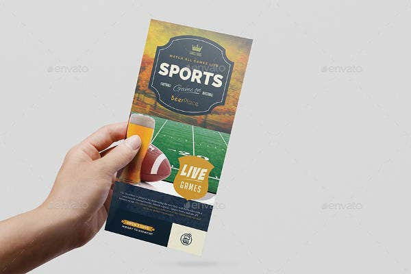 Sports Bar Rack Card Template