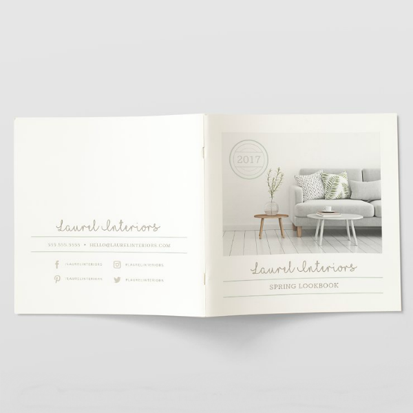 Spring Interiors Lookbook Template