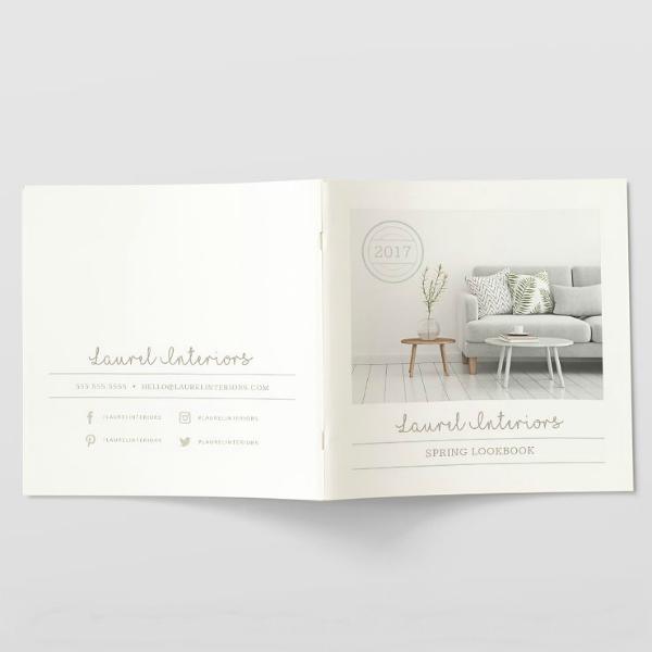 spring interiors lookbook template