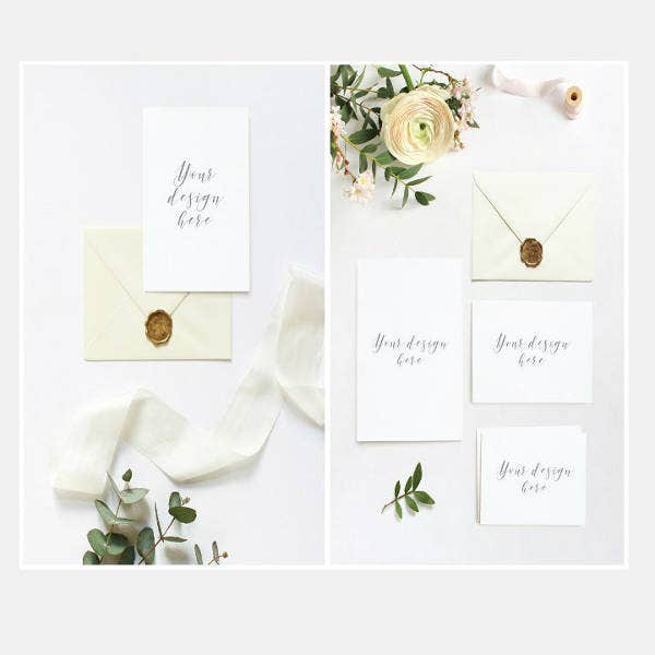 Spring Wedding Blank Invitation Template