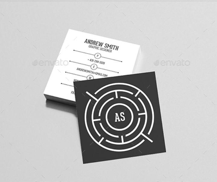 square-black-maze-business-card-template-bundle