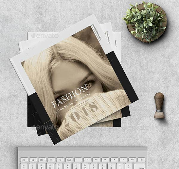 square fashion lookbook design