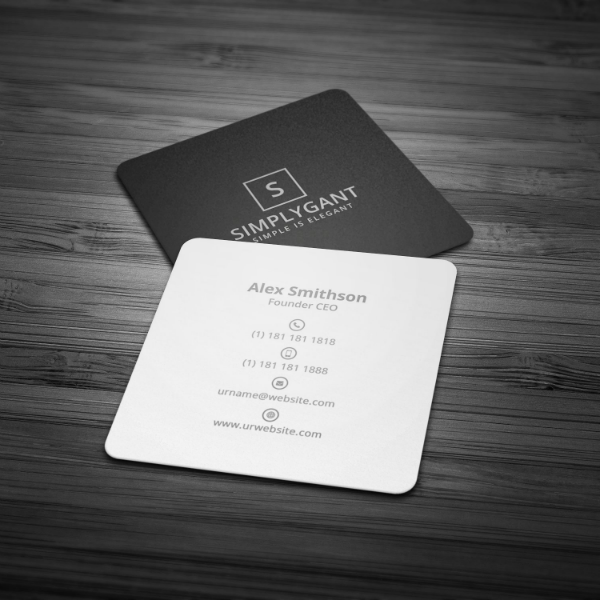 17 minimal business card designs templates psd ai free premium templates. Black Bedroom Furniture Sets. Home Design Ideas