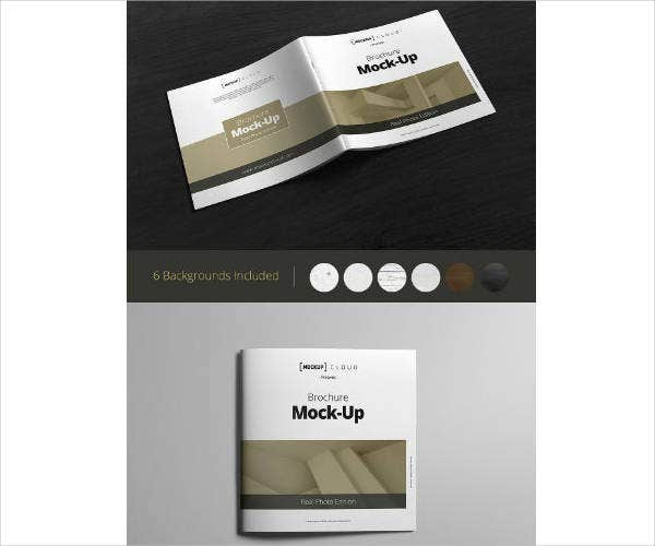 Square Photography Brochure Mock-Up