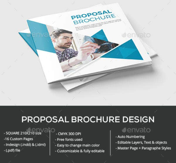 Square Proposal Brochure Template