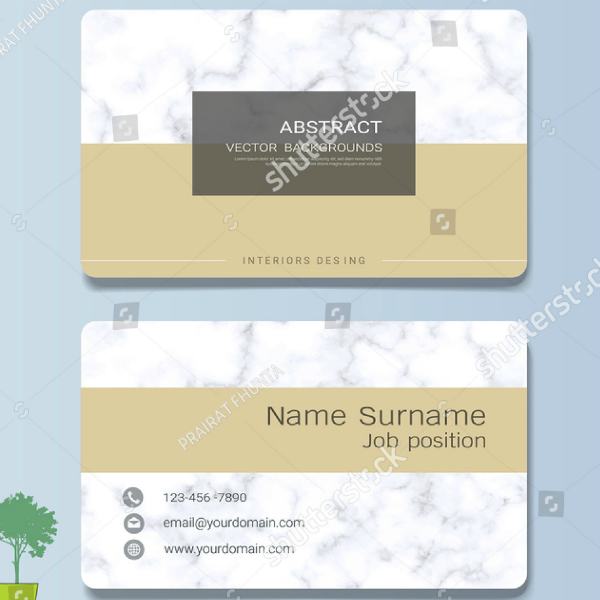 Stock Interior Design Business Card Template