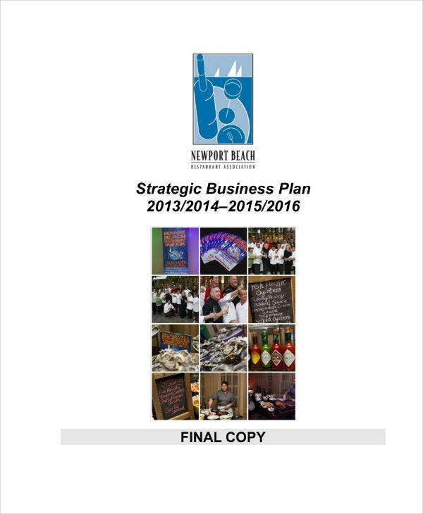 Strategic Business Plan for Restaurant Sample