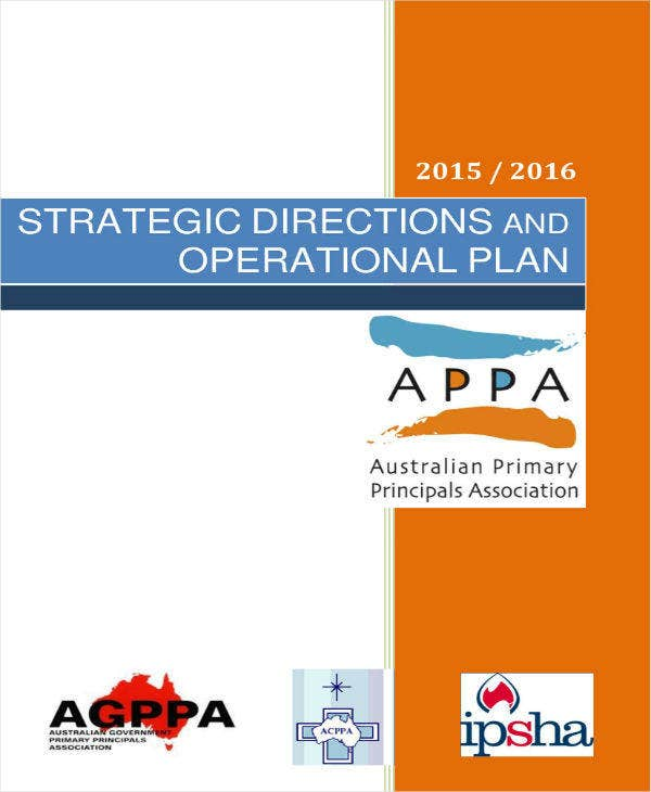 Strategic Directions & Operational Plan Template