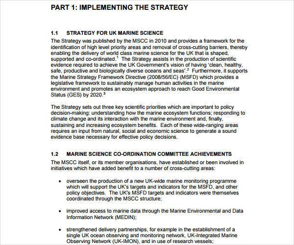strategic implementation plan template
