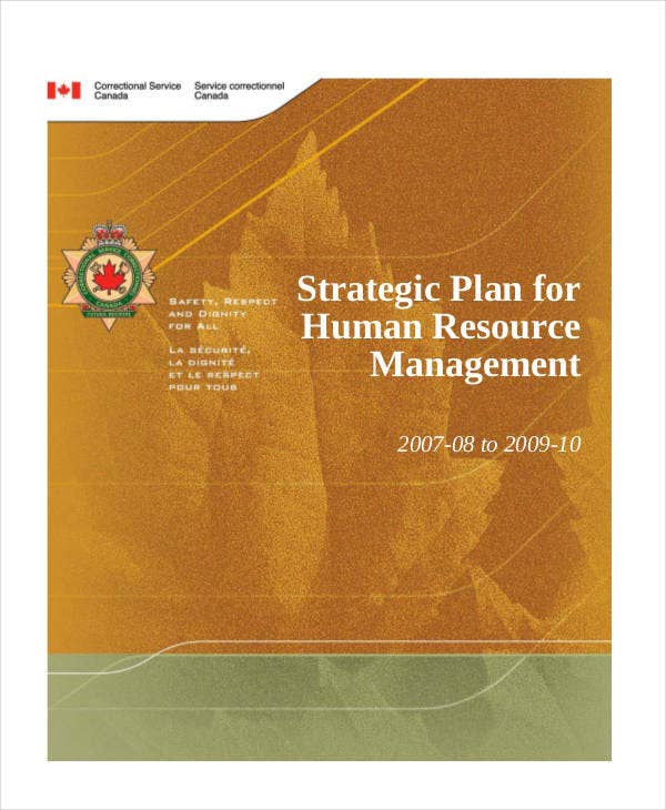 strategic plan for human resource management