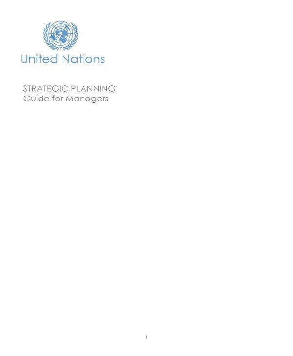 strategic planning guide sample