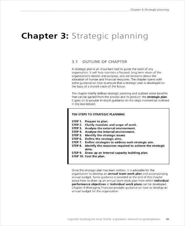 strategic planning outline