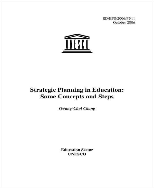 Strategic Planning for Education