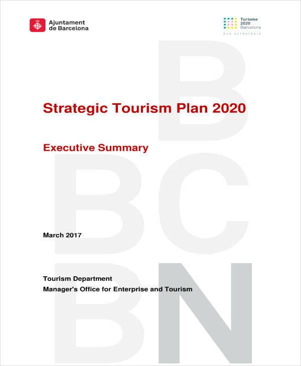 strategic tourism plan template