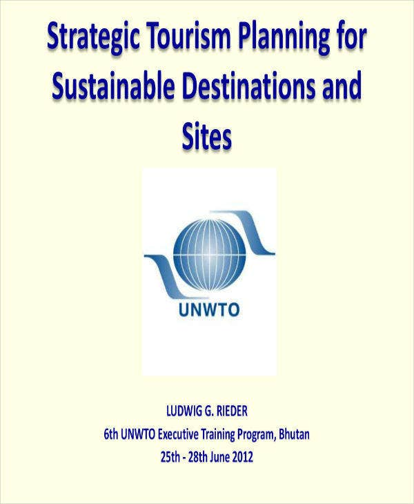 strategic tourism plan for destinations