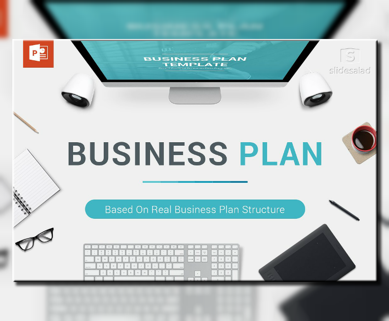 structured business plan powerpoint template 788x650