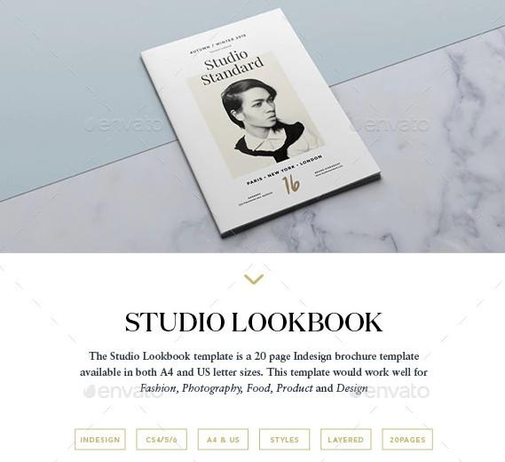 studio lookbook template