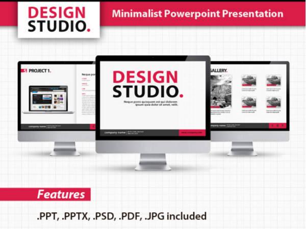 Studio Minimalist PowerPoint Template