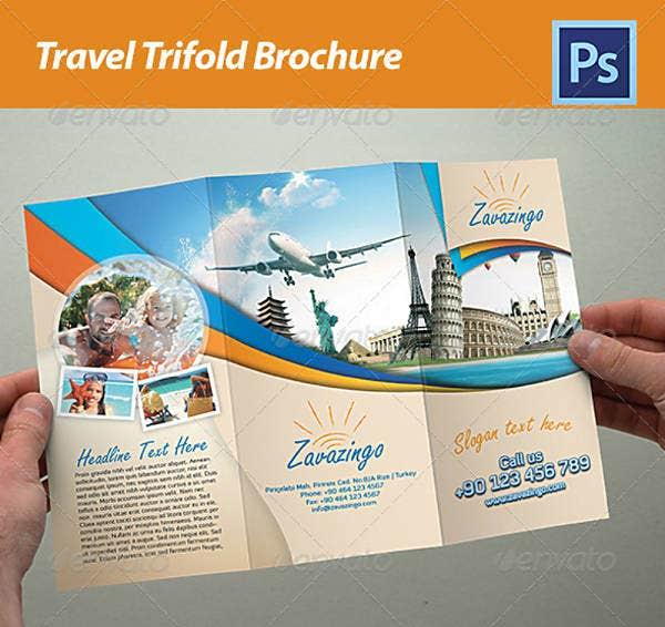 Studio Travel Trifold Brochure Example