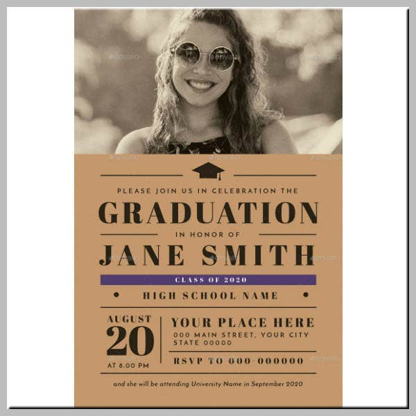 Stylish Graduation Ceremony Invitation