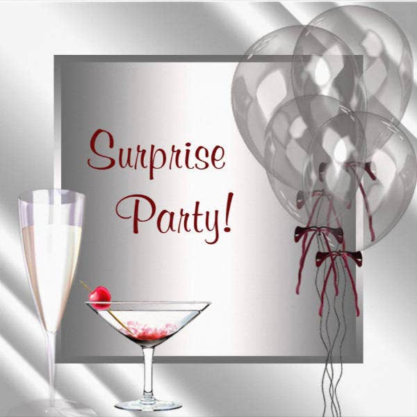 Surprise Birthday Party Card