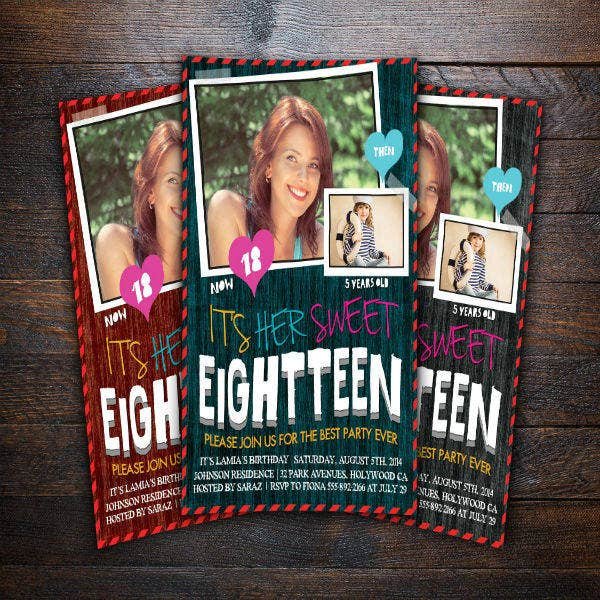 Teens Birthday Invitation Card