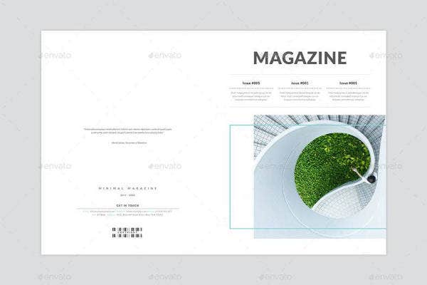 template for minimal magazine