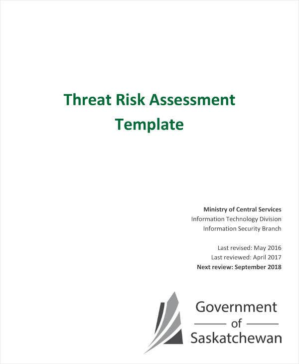 Threat Risk Assessment Template