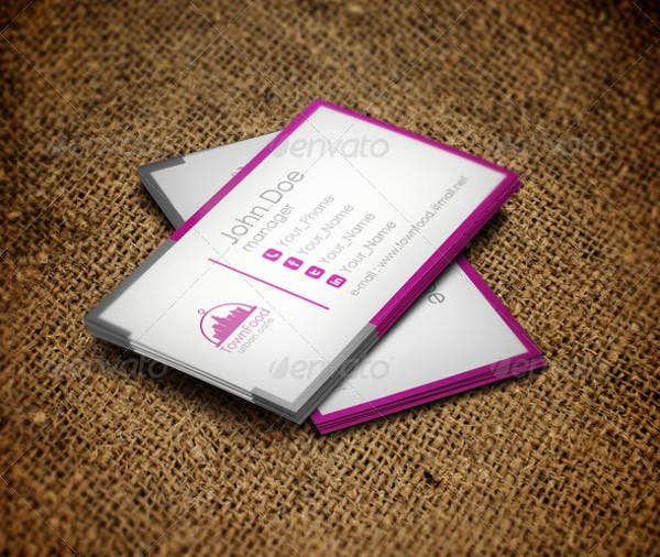Town Food Business Card