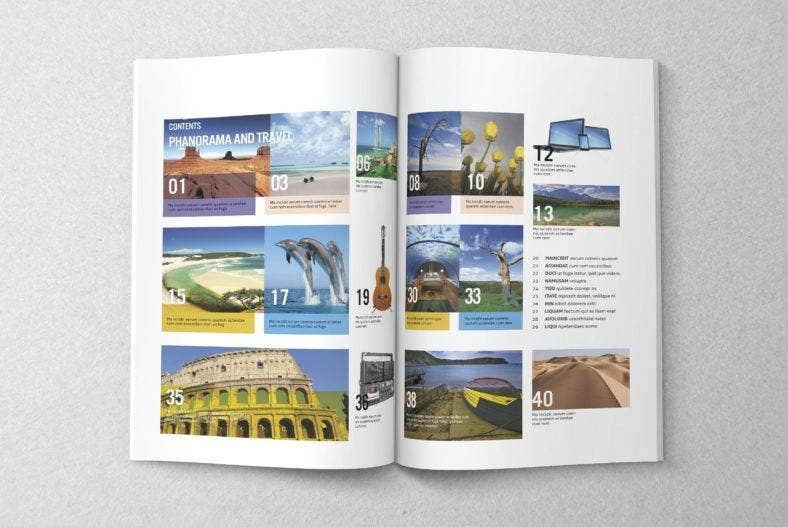 travel-simple-magazine-template