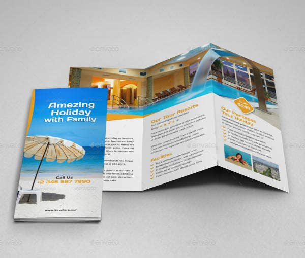 Travel Tour Trifold Brochure Design