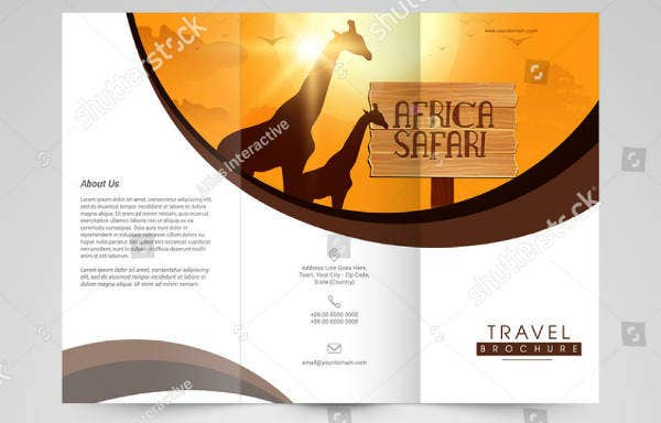 Travel Trifold Brochure Example