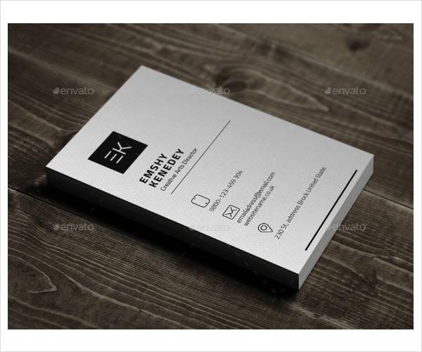 trendy modern corporate business card