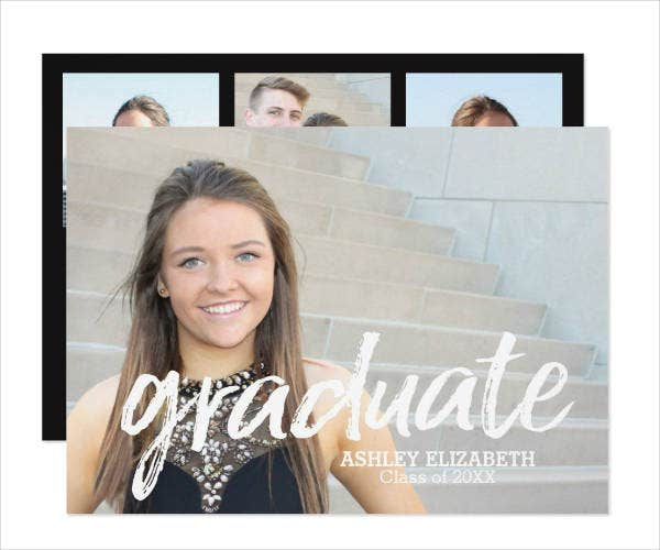 trendy school graduation invitation