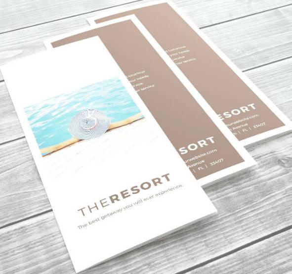 Tri-Fold Minimal Vertical Brochure Template