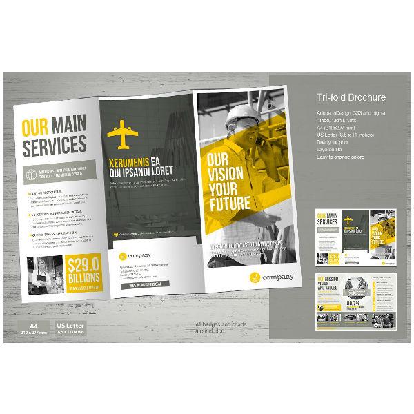 11 trifold corporate brochure designs templates pdf ai free