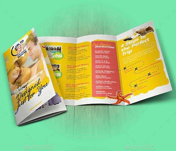 Trip Travel Trifold Brochure Template