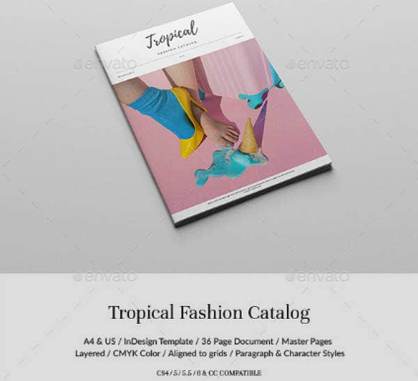 Tropical Fashion Lookbook Template