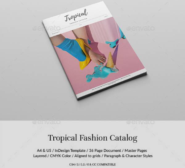 tropical fashion lookbook template