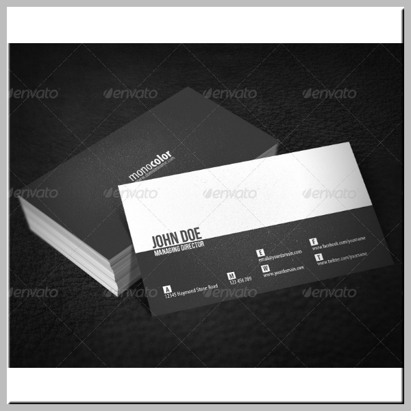 Two-Tone Minimal Business Card Template