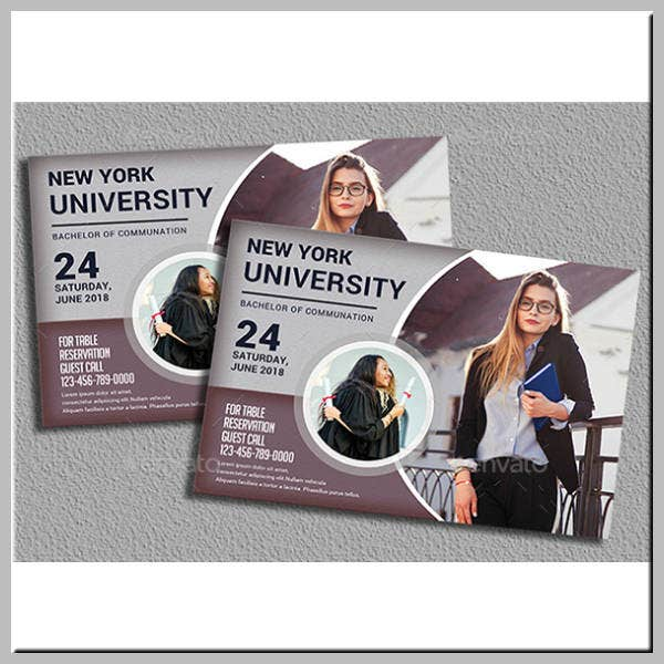 University Graduation Ceremony Invitation