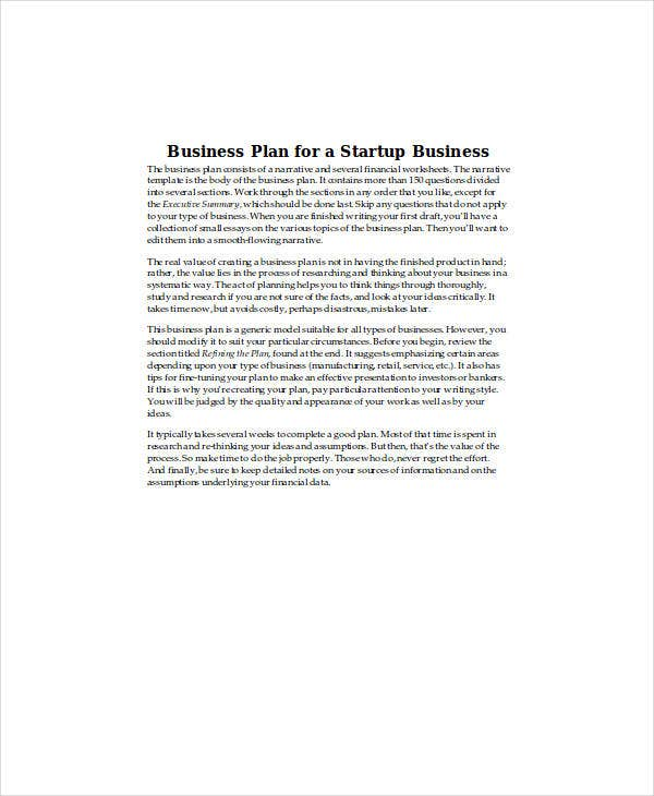 untitledbusiness plan for a startup business